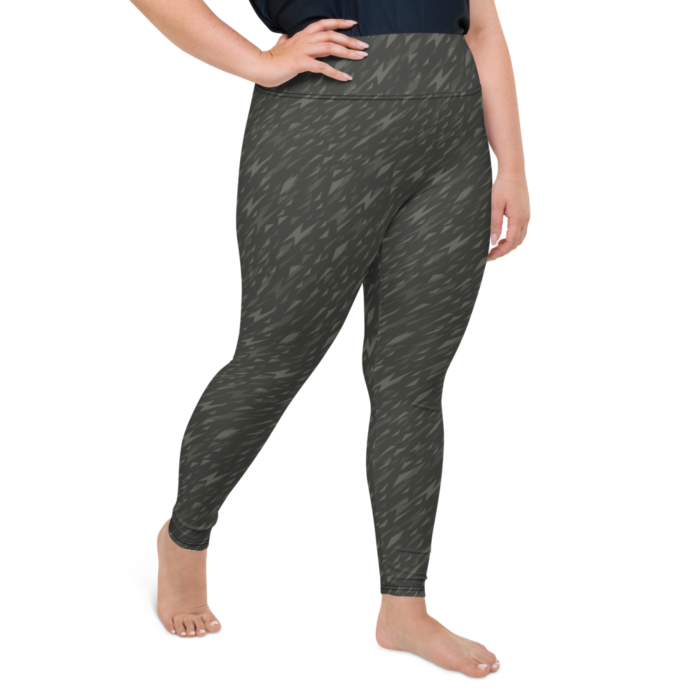 Plus Size Leggings & Yoga Pants - Army Camo Thunder | TopGurl High Waist Workout Printed Activewear Athleisure - TOPGURL