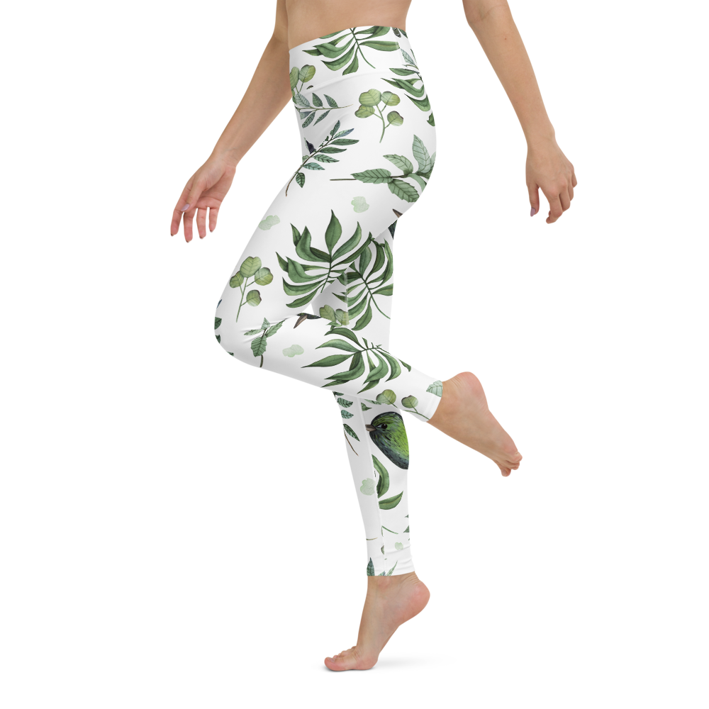 Yoga Pants & High Waist Leggings - Song Birds | TopGurl Workout Printed Activewear Athleisure - TOPGURL