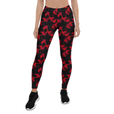 Womens Leggings & Activewear - Red Skulls | TopGurl Printed Athleisure - TOPGURL