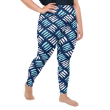 Plus Size Leggings & Yoga Pants - Scratch & Scrape | TopGurl High Waist Workout Printed Activewear Athleisure - TOPGURL
