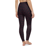 Yoga Pants & High Waist Leggings - Bat Out Of Hell | TopGurl Workout Printed Activewear Athleisure - TOPGURL