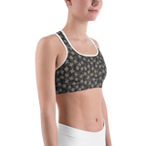Sports Bra - Army Camo Leaves 1 | Activewear | TopGurl Printed Athleisure - TOPGURL