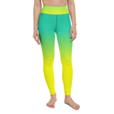 Yoga Pants & High Waist Leggings - Green & Yellow | TopGurl Workout Printed Activewear Athleisure - TOPGURL