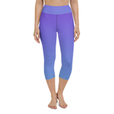 Capri Yoga Pants & High Waist Leggings - Teal & Blue | TopGurl Workout Printed Activewear Athleisure - TOPGURL