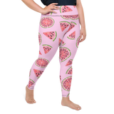 Plus Size Leggings & Yoga Pants - Watermelon 1 | TopGurl High Waist Workout Printed Activewear Athleisure - TOPGURL