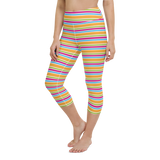 Capri Yoga Pants & High Waist Leggings - Sun Stripes | TopGurl Workout Printed Activewear Athleisure - TOPGURL
