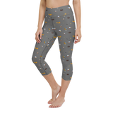 Capri Yoga Pants & High Waist Leggings - Bug Crawl On Gray | TopGurl Workout Printed Activewear Athleisure - TOPGURL