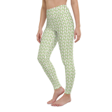 Yoga Pants & High Waist Leggings - Tropical Palm Trees | TopGurl Workout Printed Activewear Athleisure - TOPGURL