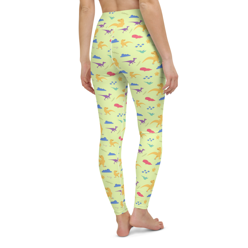 Yoga Pants & High Waist Leggings - Dino World | TopGurl Workout Printed Activewear Athleisure - TOPGURL