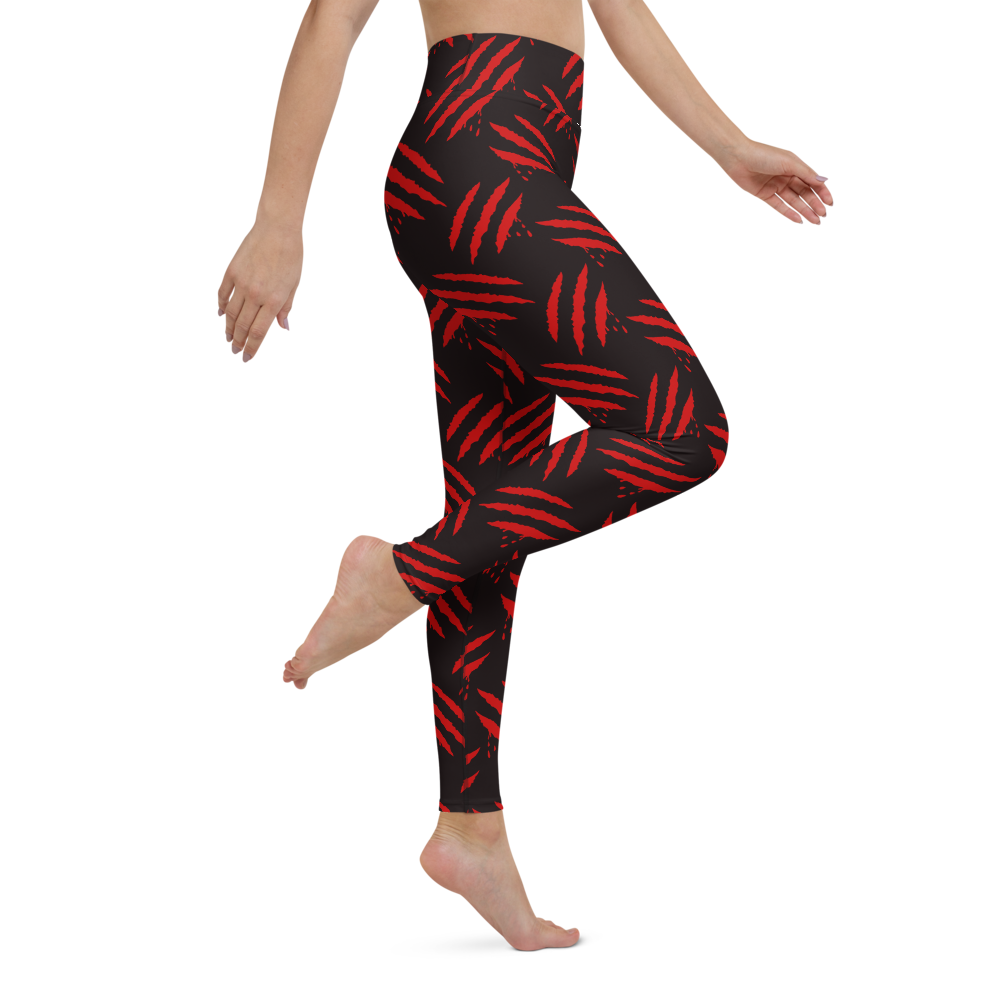 Yoga Pants & High Waist Leggings - Spooky Scratches | TopGurl Workout Printed Activewear Athleisure - TOPGURL