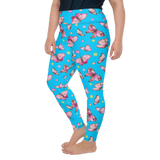 Plus Size Leggings & Yoga Pants - Pink Butterflies | TopGurl High Waist Workout Printed Activewear Athleisure - TOPGURL