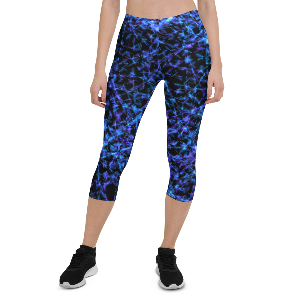 Capri Leggings & Activewear - Barb Wire | TopGurl Printed Athleisure - TOPGURL