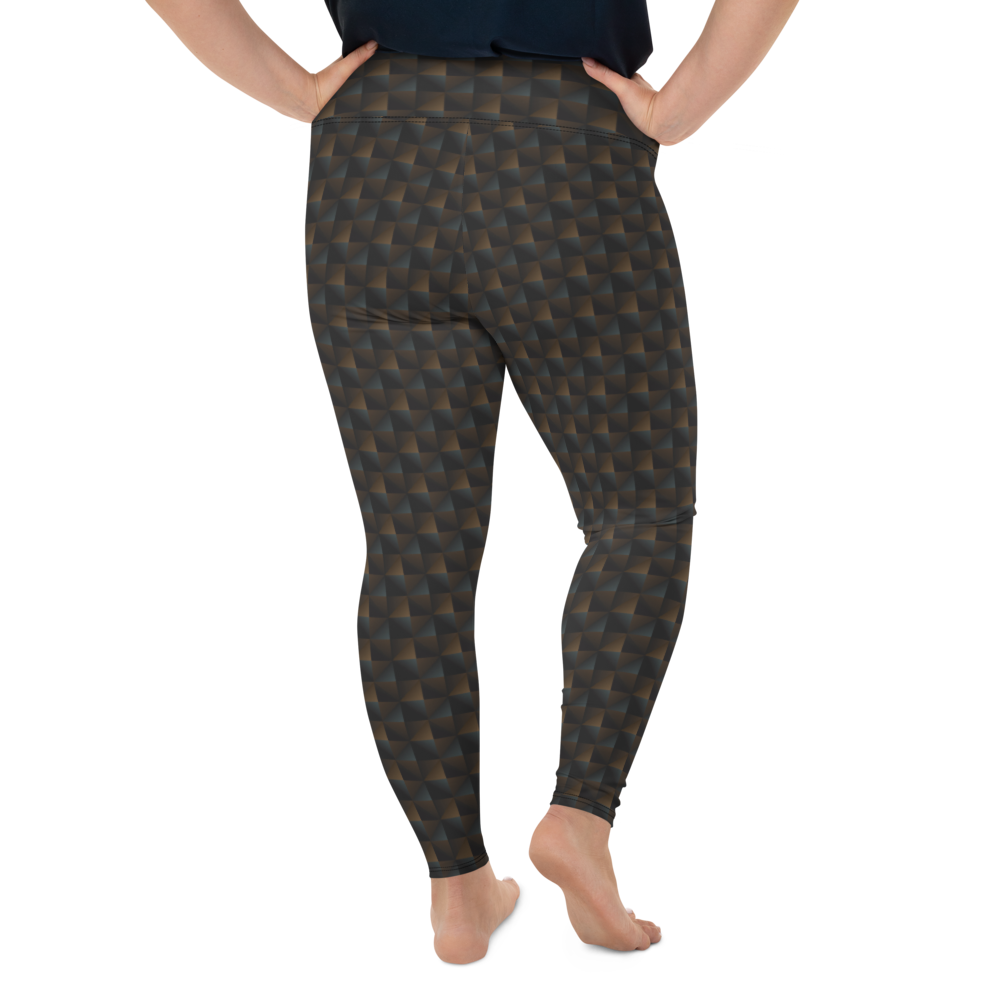 Plus Size Leggings & Yoga Pants - Geo Squares | TopGurl High Waist Workout Printed Activewear Athleisure - TOPGURL
