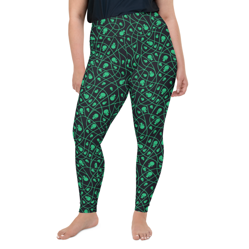 Plus Size Leggings & Yoga Pants - Halloween Skull | TopGurl High Waist Workout Printed Activewear Athleisure - TOPGURL