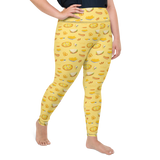 Plus Size Leggings & Yoga Pants - Pizza & Fast Food | TopGurl High Waist Workout Printed Activewear Athleisure - TOPGURL