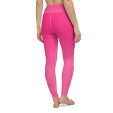 Yoga Pants & High Waist Leggings - Hot Pink | TopGurl Workout Printed Activewear Athleisure - TOPGURL