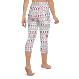 Capri Yoga Pants & High Waist Leggings - Ethnic White | TopGurl Workout Printed Activewear Athleisure - TOPGURL