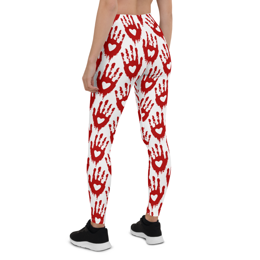 Womens Leggings & Activewear - Bloody Palms | TopGurl Printed Athleisure - TOPGURL