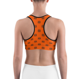 Sports Bra - Spider Halloween | Activewear | TopGurl Printed Athleisure - TOPGURL