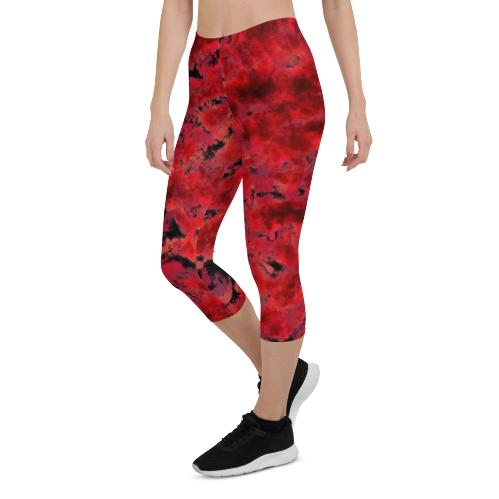 Capri Leggings & Activewear - Burn In Hell | TopGurl Printed Athleisure - TOPGURL