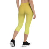Capri Leggings & Activewear - Yellow | TopGurl Printed Athleisure - TOPGURL