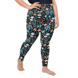 Plus Size Leggings & Yoga Pants - Coral Life | TopGurl High Waist Workout Printed Activewear Athleisure - TOPGURL
