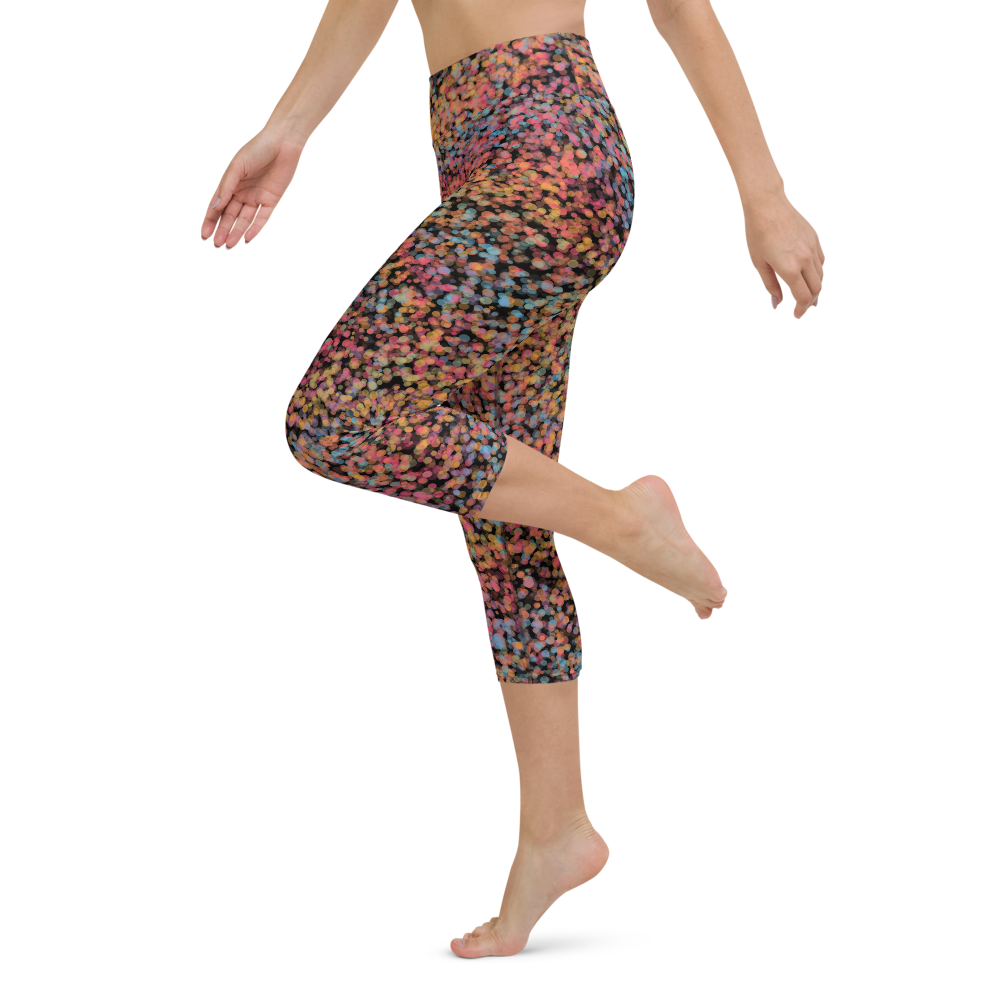 Capri Yoga Pants & High Waist Leggings - Nebula Prisma | TopGurl Workout Printed Activewear Athleisure - TOPGURL