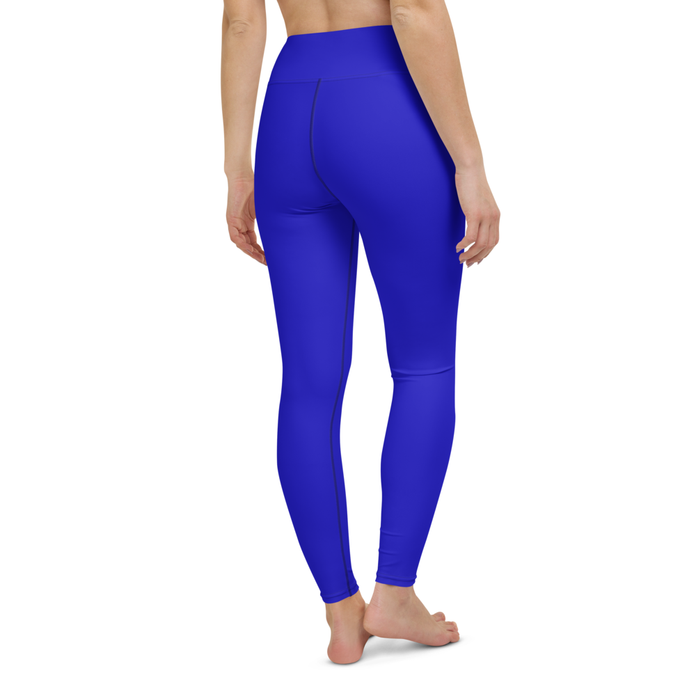 Yoga Pants & High Waist Leggings - Royal Blue | TopGurl Workout Printed Activewear Athleisure - TOPGURL
