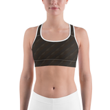 Sports Bra - Brown Matrix | Activewear | TopGurl Printed Athleisure - TOPGURL
