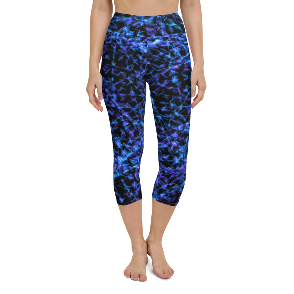 Capri Yoga Pants & High Waist Leggings - Barb Wire | TopGurl Workout Printed Activewear Athleisure - TOPGURL