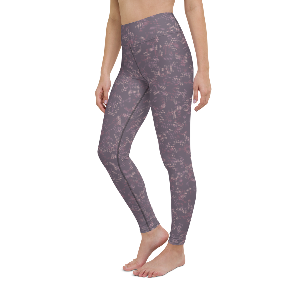 Yoga Pants & High Waist Leggings - Army Camo Purple | TopGurl Workout Printed Activewear Athleisure - TOPGURL