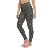 Yoga Pants & High Waist Leggings - Army Camo Gray | TopGurl Workout Printed Activewear Athleisure - TOPGURL