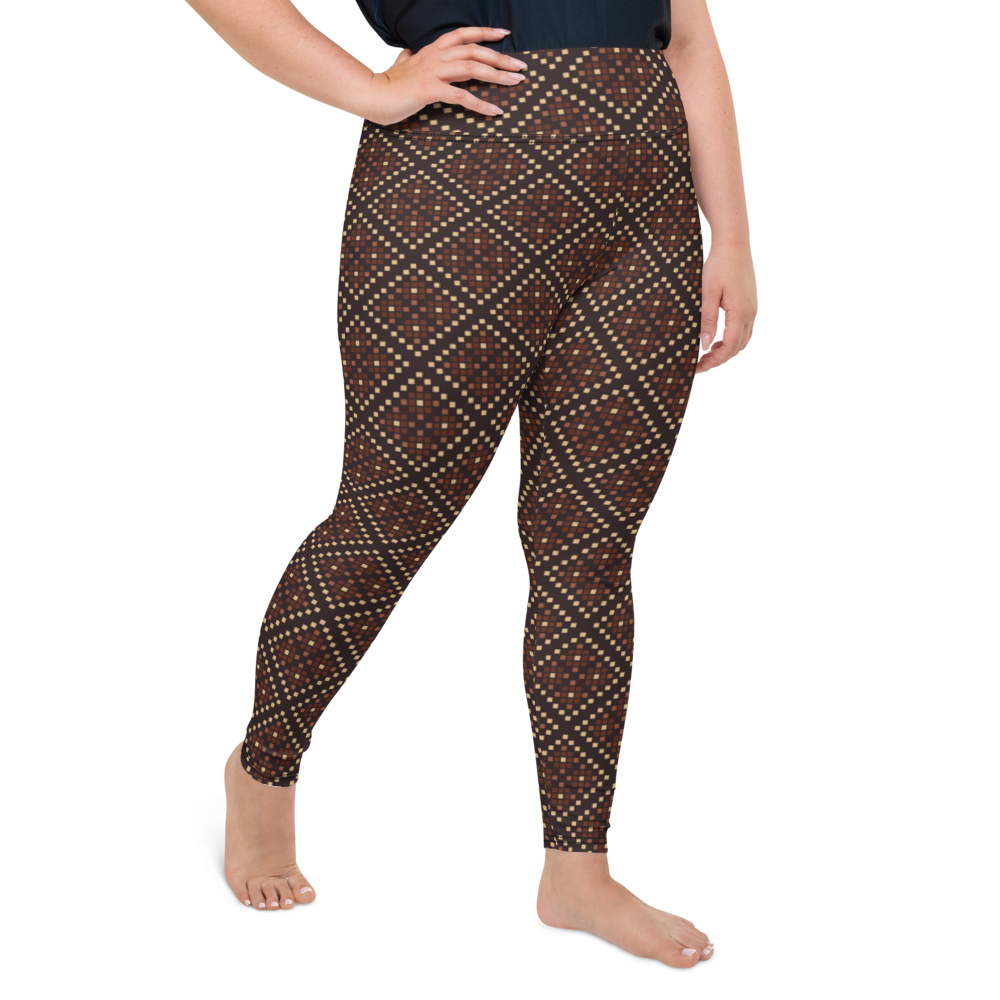 Plus Size Leggings & Yoga Pants - Ethnic Print | TopGurl High Waist Workout Printed Activewear Athleisure - TOPGURL