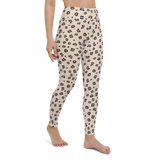 Yoga Pants & High Waist Leggings - Leopard Print Cream | TopGurl Workout Printed Activewear Athleisure - TOPGURL