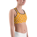 Sports Bra - Sea Shells | Activewear | TopGurl Printed Athleisure - TOPGURL