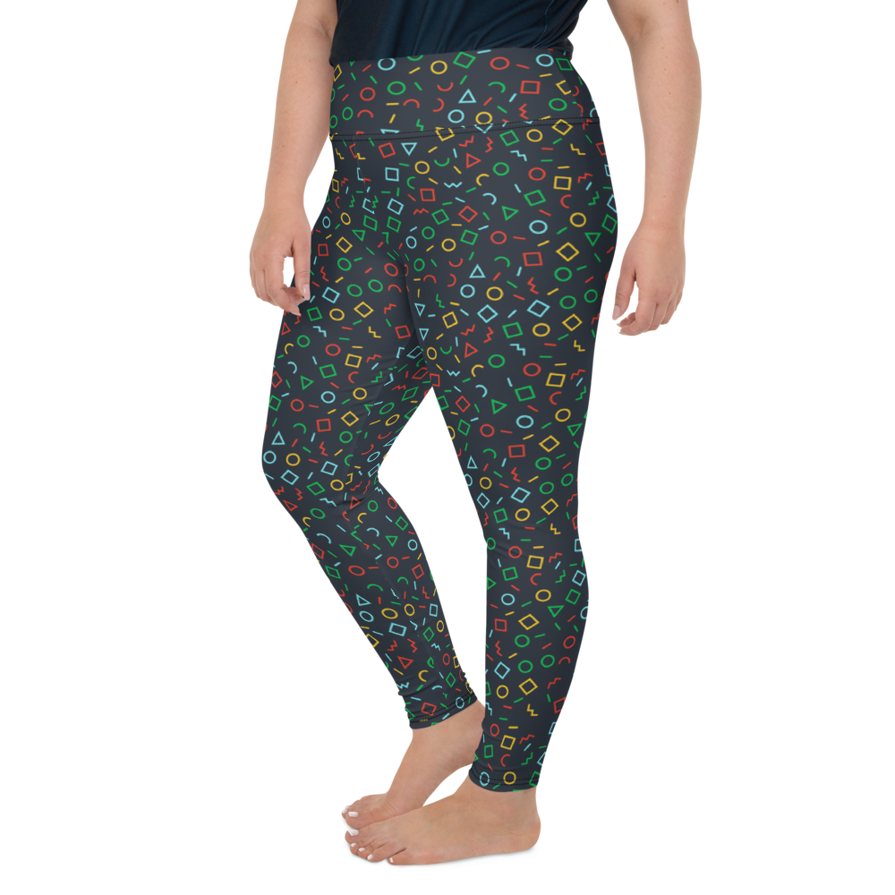 Plus Size Leggings & Yoga Pants - Graffiti Time | TopGurl High Waist Workout Printed Activewear Athleisure - TOPGURL