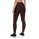 Womens Leggings & Activewear - Spider Web | TopGurl Printed Athleisure - TOPGURL