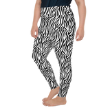 Plus Size Leggings & Yoga Pants - Black & White Leopard | TopGurl High Waist Workout Printed Activewear Athleisure - TOPGURL