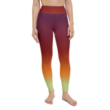 Yoga Pants & High Waist Leggings - Neon Crimson | TopGurl Workout Printed Activewear Athleisure - TOPGURL