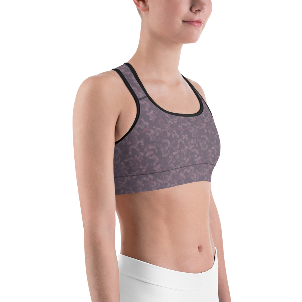 Sports Bra - Army Camo Purple | Activewear | TopGurl Printed Athleisure - TOPGURL