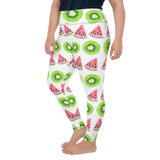 Plus Size Leggings & Yoga Pants - Berry And Melon | TopGurl High Waist Workout Printed Activewear Athleisure - TOPGURL