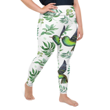 Plus Size Leggings & Yoga Pants - Song Birds | TopGurl High Waist Workout Printed Activewear Athleisure - TOPGURL
