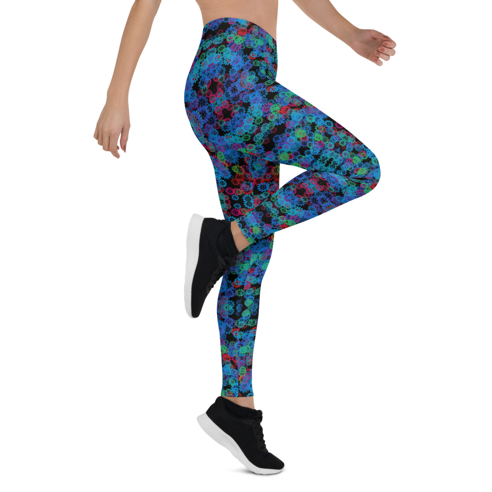 Womens Leggings & Activewear - Psychedelic Forest | TopGurl Printed Athleisure - TOPGURL