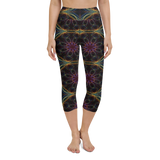 Capri Yoga Pants & High Waist Leggings - InterGalactic | TopGurl Workout Printed Activewear Athleisure - TOPGURL
