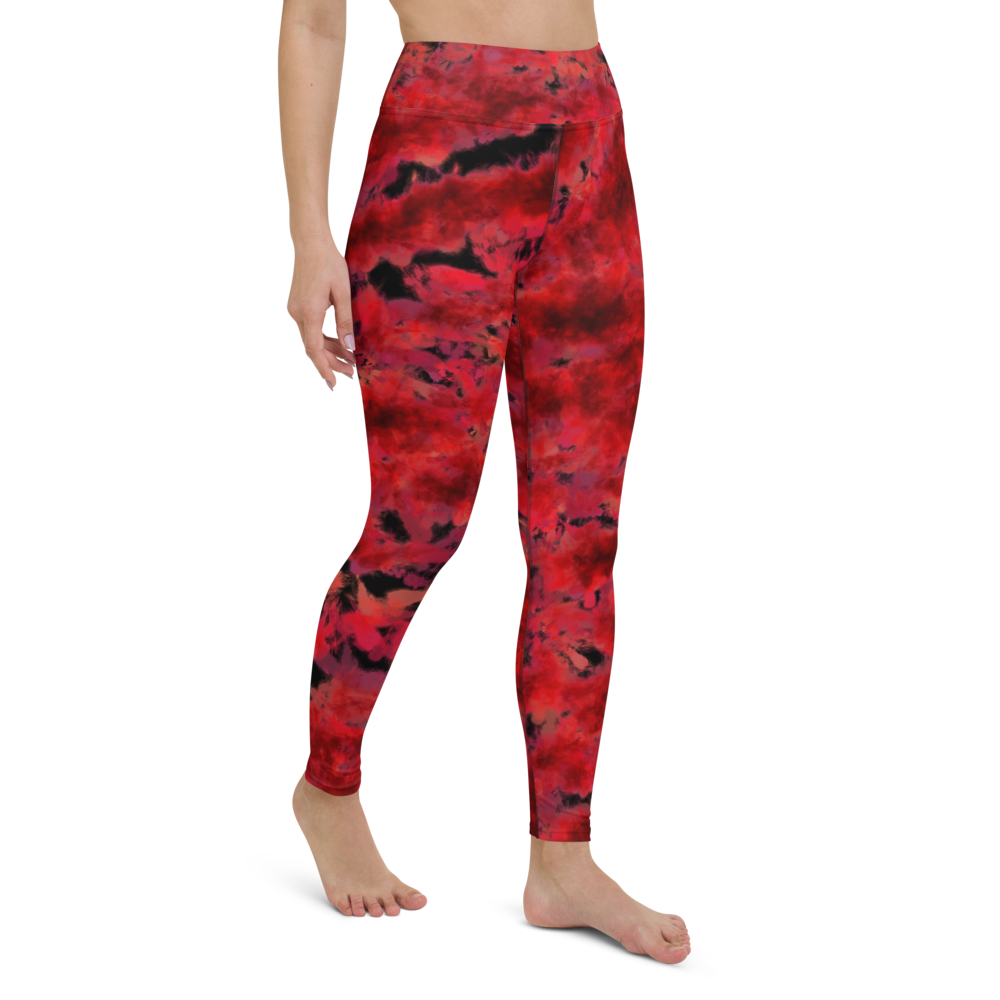 Yoga Pants & High Waist Leggings - Burn In Hell | TopGurl Workout Printed Activewear Athleisure - TOPGURL