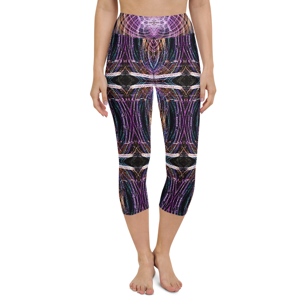 Capri Yoga Pants & High Waist Leggings - Take Me To Your Leader | TopGurl Workout Printed Activewear Athleisure - TOPGURL