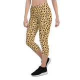 Capri Leggings & Activewear - Leopard Yellow | TopGurl Printed Athleisure - TOPGURL