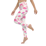 Yoga Pants & High Waist Leggings - Flamingos In Summer | TopGurl Workout Printed Activewear Athleisure - TOPGURL