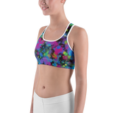 Sports Bra - Color Riot | Activewear | TopGurl Printed Athleisure - TOPGURL