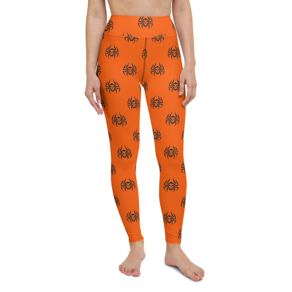 Yoga Pants & High Waist Leggings - Halloween Spider | TopGurl Workout Printed Activewear Athleisure - TOPGURL